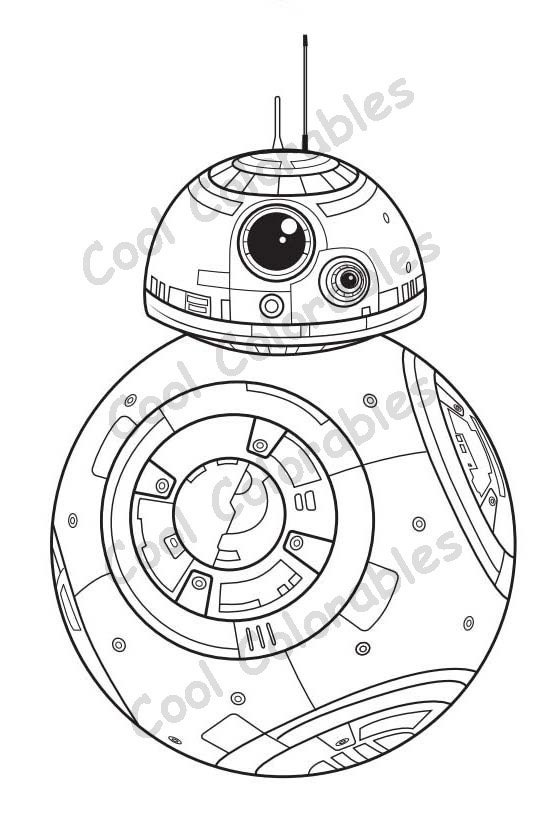 Bb8 Adult Star Wars Coloring Pages Sketch Coloring Page