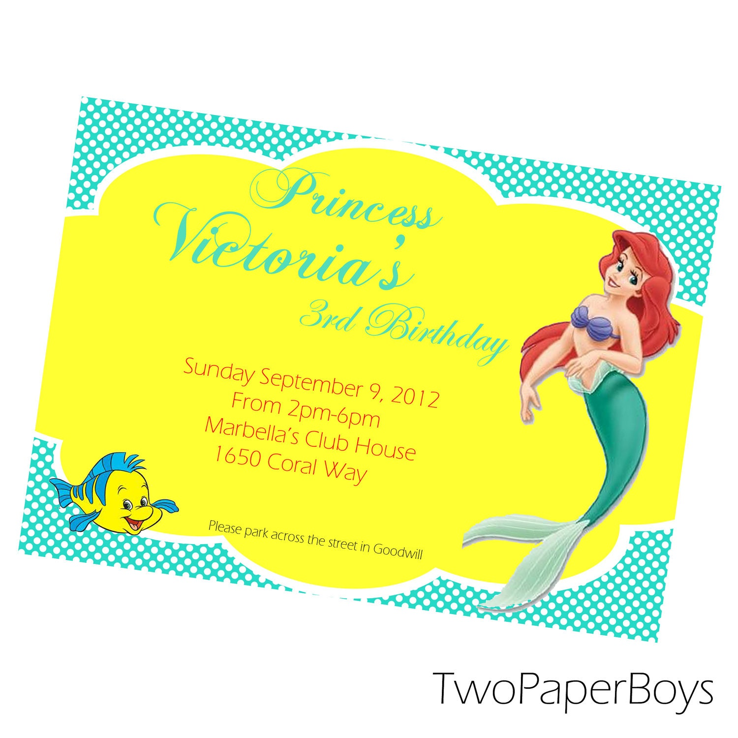 similar to little mermaid baby shower or birthday invitation on etsy