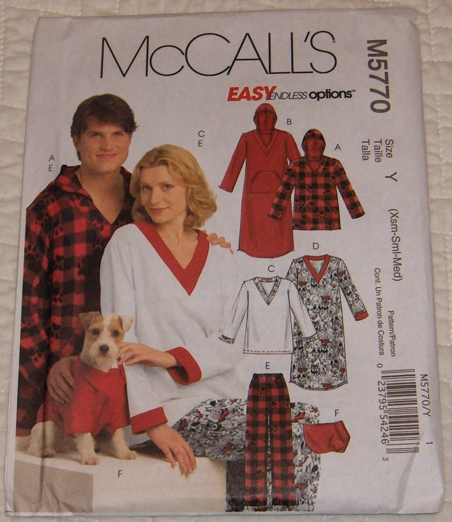 il fullxfull.117648745 Misses', Men's and Teen Boys' Tops, Nightshirts, Pants and Top For Dog; ...