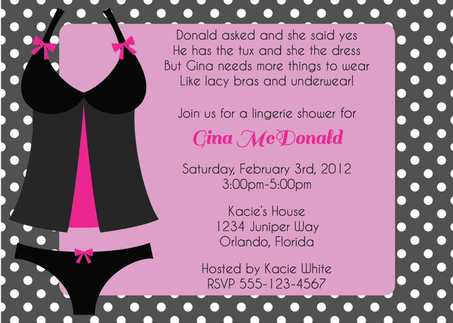 Lingerie Bridal Shower Invitations was very inspiring ideas you may choose for invitation ideas
