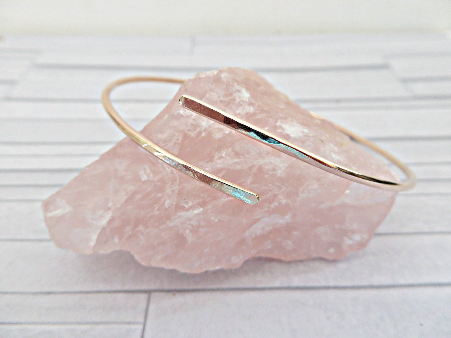 Rose gold filled cuff Rose gold bangle Rose gold bracelet 14k rose gold bangle Slim rose gold cuff Slim rose gold bangle Made in UK