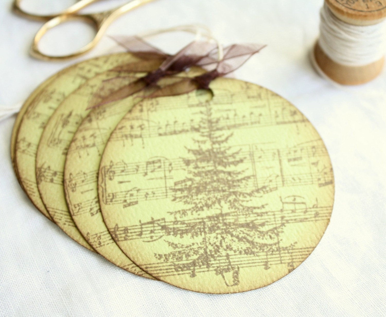 Gift Tags - Christmas Tree on Sheet Music