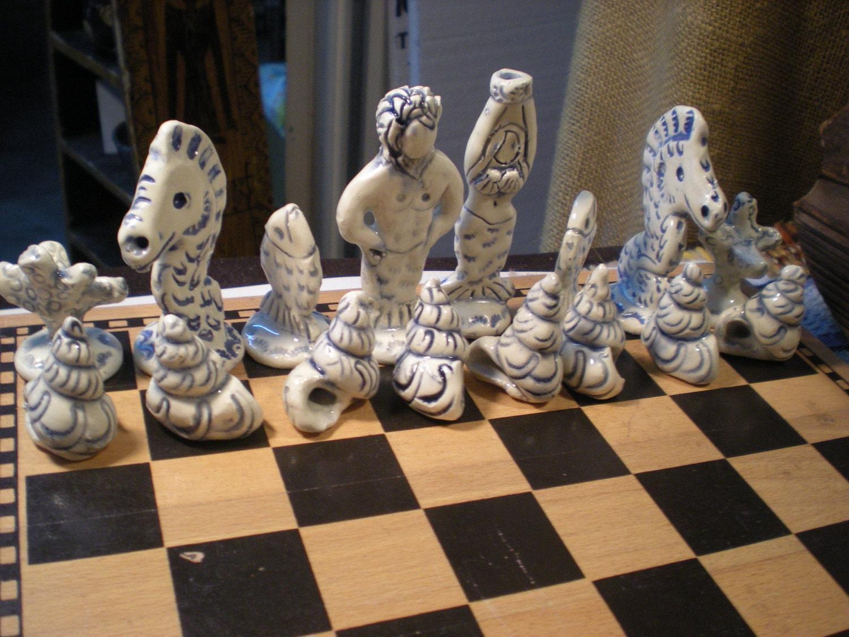 Hand Made Designer Nautical Chess Set Sale Free By Muddymuse