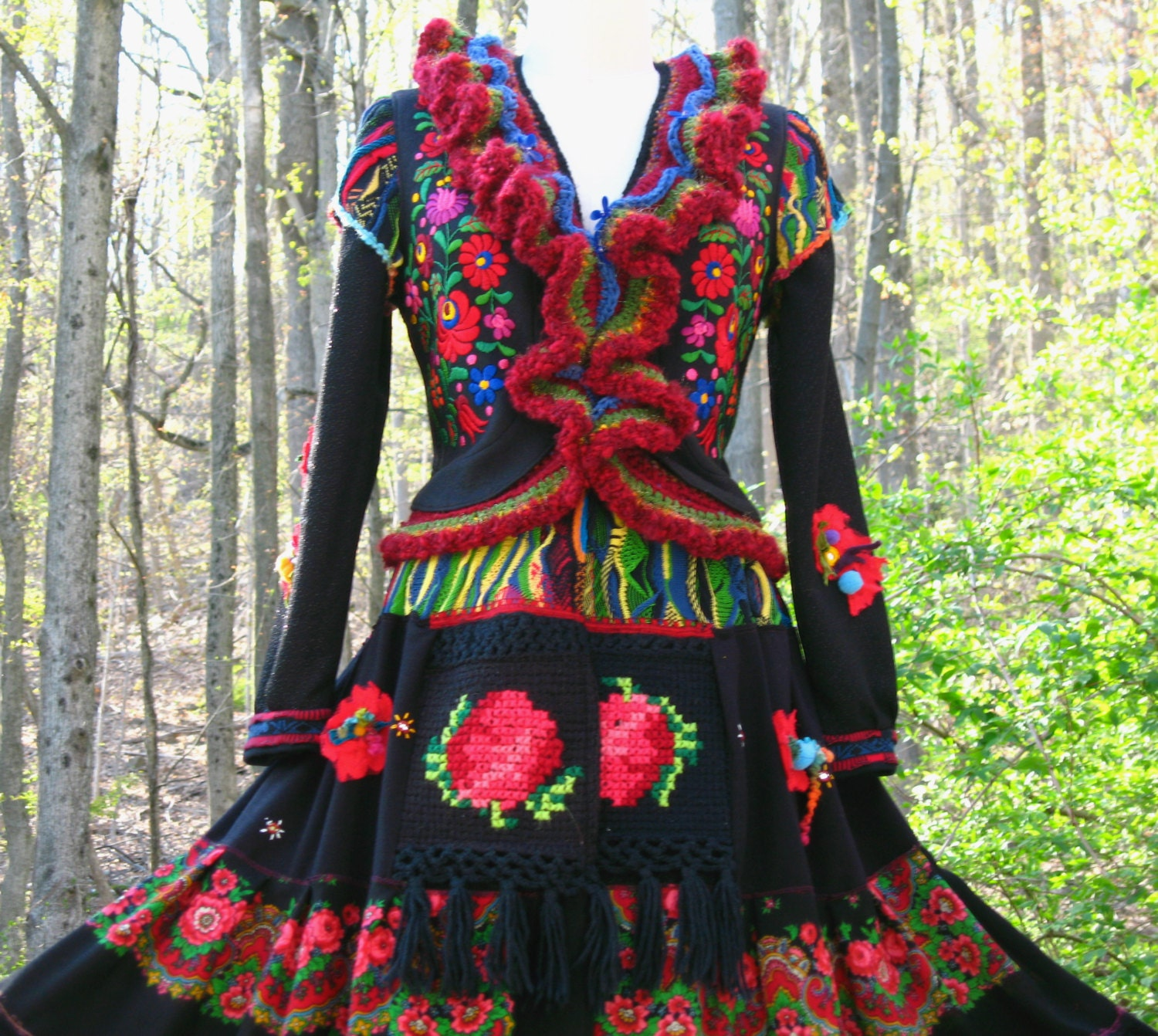 Reserved for Sally. Patchwork Gypsy style COAT. Size Medium