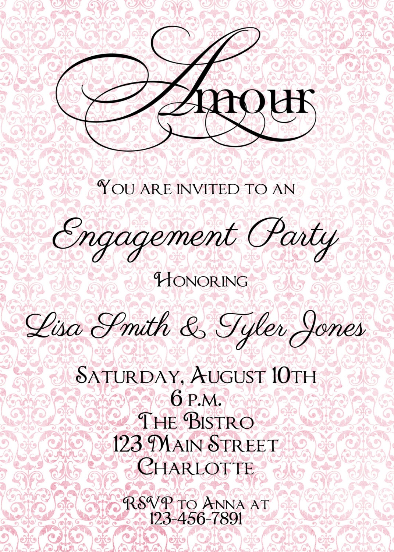 Engagment party Invitation -- bridal shower invitation - engagement ...
