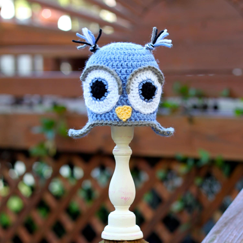 Owl Earflap Beanie - Size NB-3T