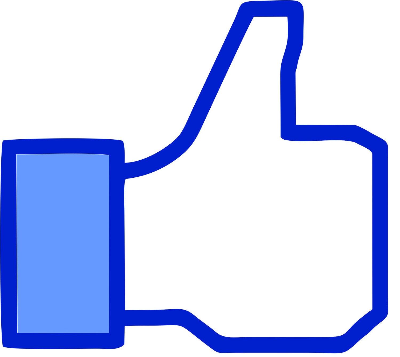 Facebook Blue Thumbs Down