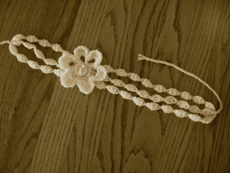 Free Crochet Patterns For Summer Headbands : PATTERN for Crochet Summer 3strand Headband by DJJConnections