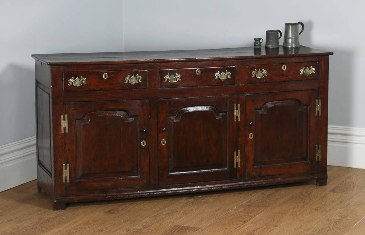 Antique English Shropshire Georgian Low Dresser Base (Circa 1760)