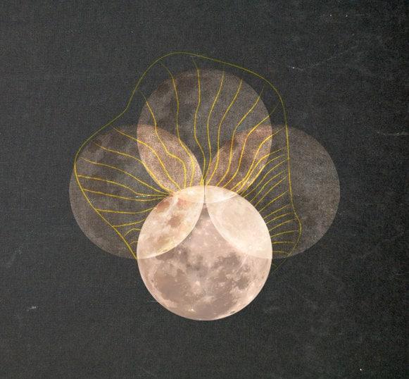"""Full Moon, 12"""" x 8"""" Digital Illustration"""