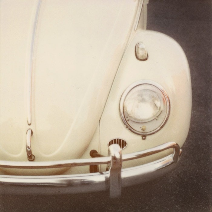 Bug - Vintage VW Beetle Polaroid Photograph in Neutral Tones