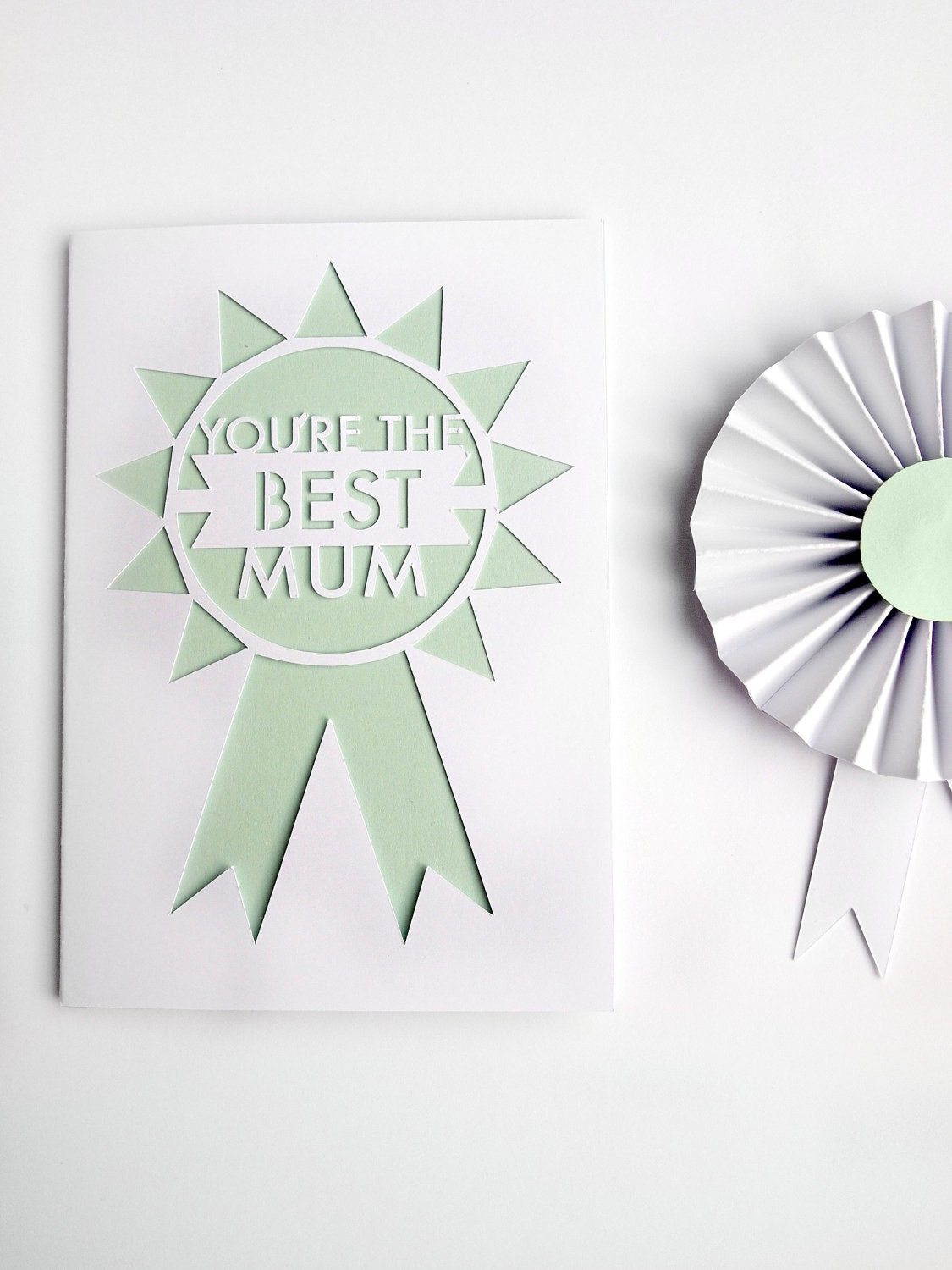 You're the best mum - Rosette mothers day card