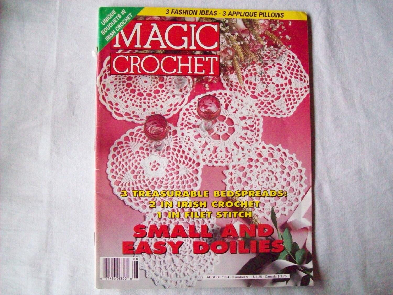 Magic Crochet Magazine : Magic Crochet Magazine, August 1994 issue 91, Crochet Pattern Booklet ...