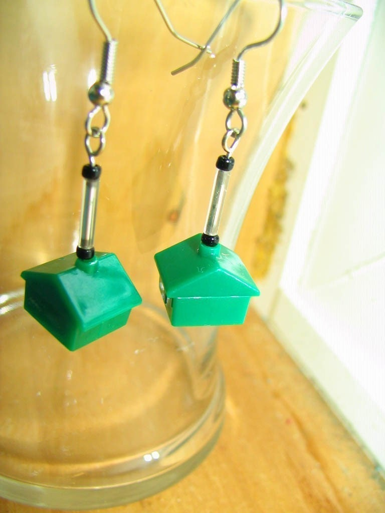 Prime Real Estate --- Monopoly Earrings
