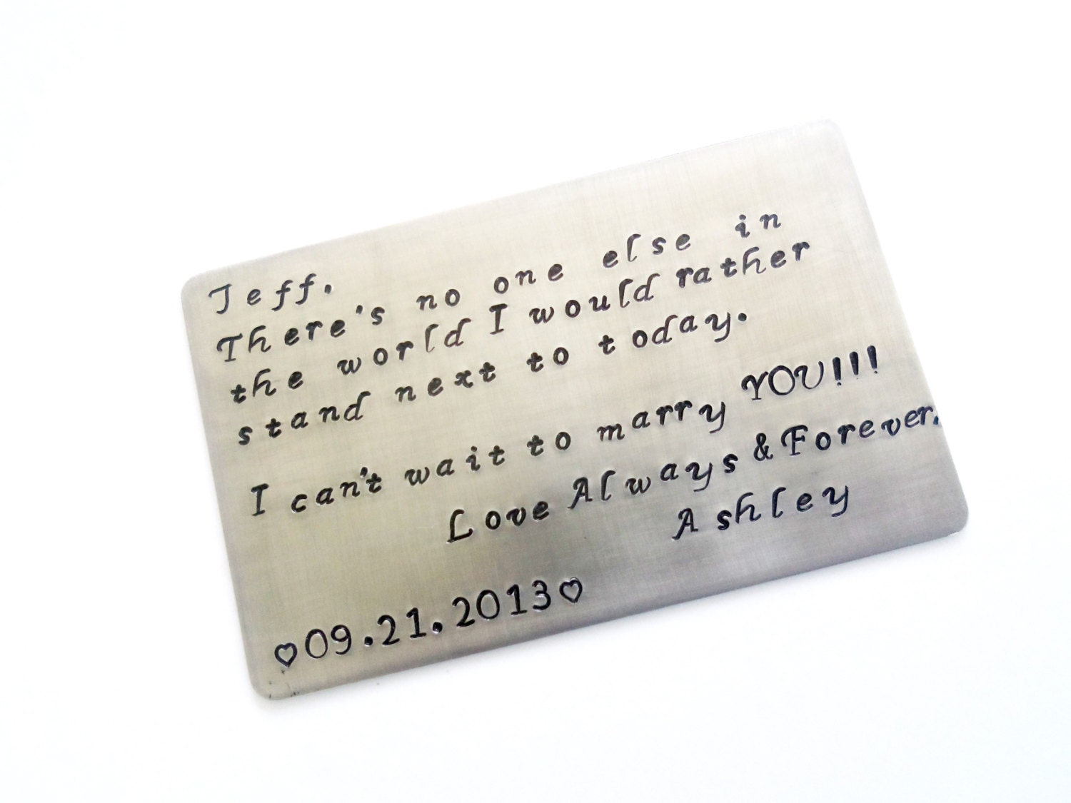 ... Gift, Wedding Gift, You Create Your Own Message -Standard Credit Card