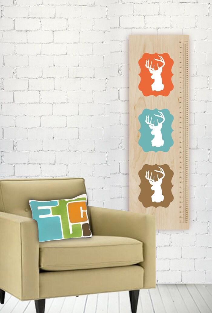 Oh deer growth chart modern nursery wall art by tinytribeart - Modern nursery wall decor ...