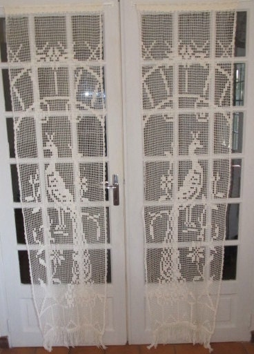 French door crochet lace curtains peacock crochet curtains