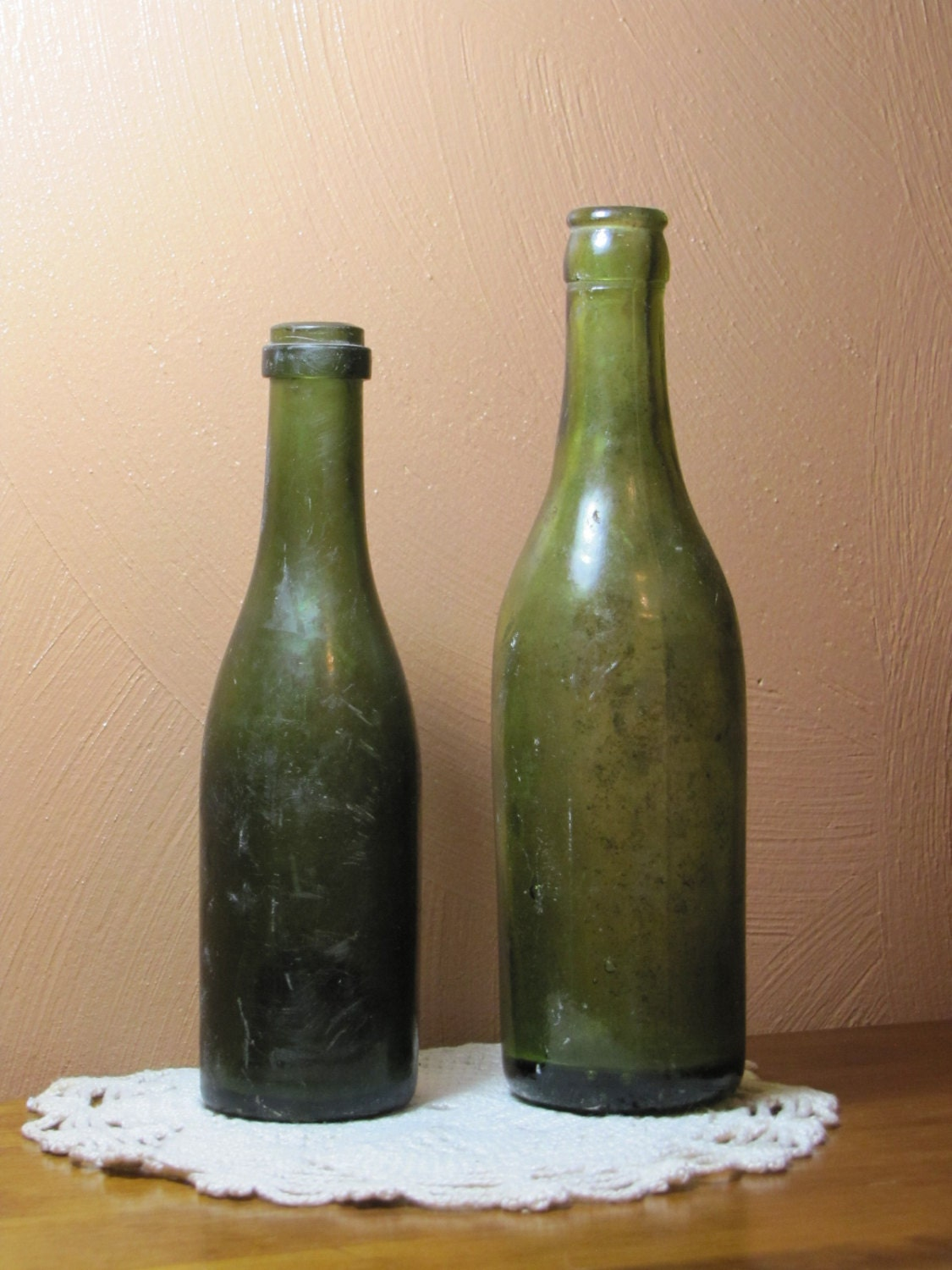 Old green bottles photos How can I reuse or recycle pretty, old perfume bottles