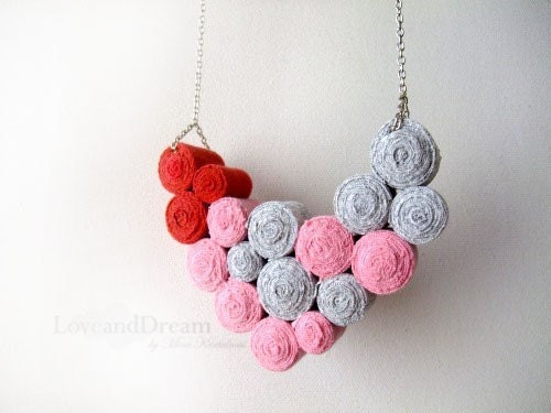 First Love Fibre Bib Necklace