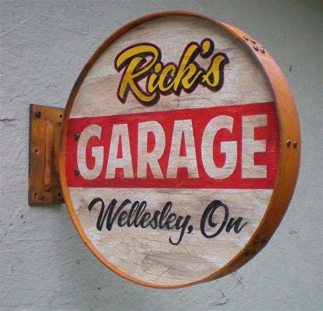 Personalized Rusty Style Garage Signs-double sided - RetroRoadVintageSign