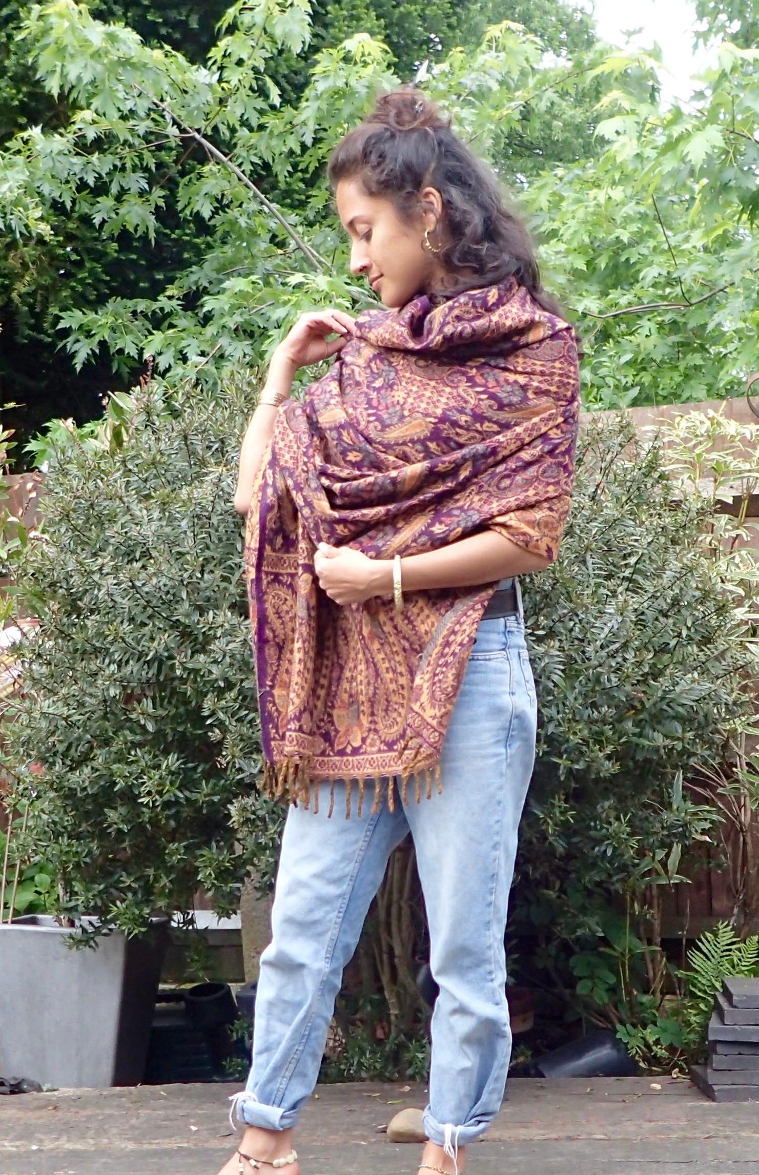 Beautiful blanket scarf sofa throw wrap bohemian festival bedding meditation blanket oversized kimono shawl