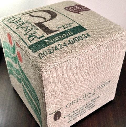 Planalto Coffee Sack Ottoman - Handmade by VelvetBean on Etsy