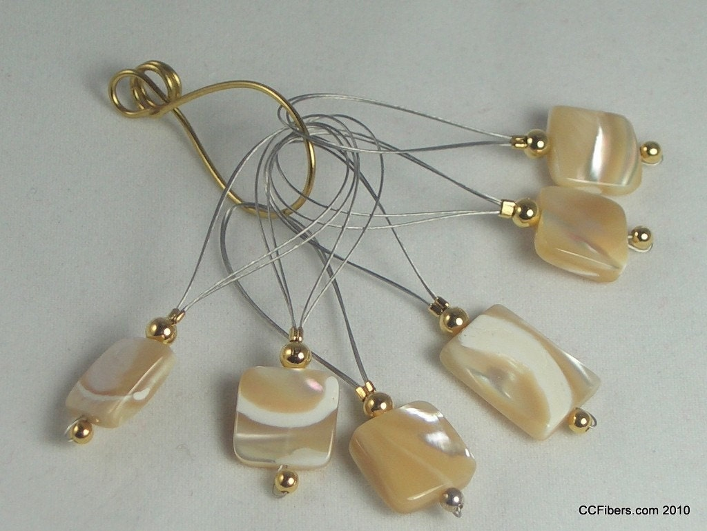 For the knitter... Mother of Pearl Stitchmarkers