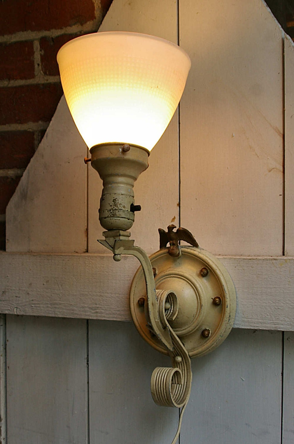 Best Plug In Wall Sconces : Electric Wall Sconce Light Plug In Wall Sconce by KickassStyle