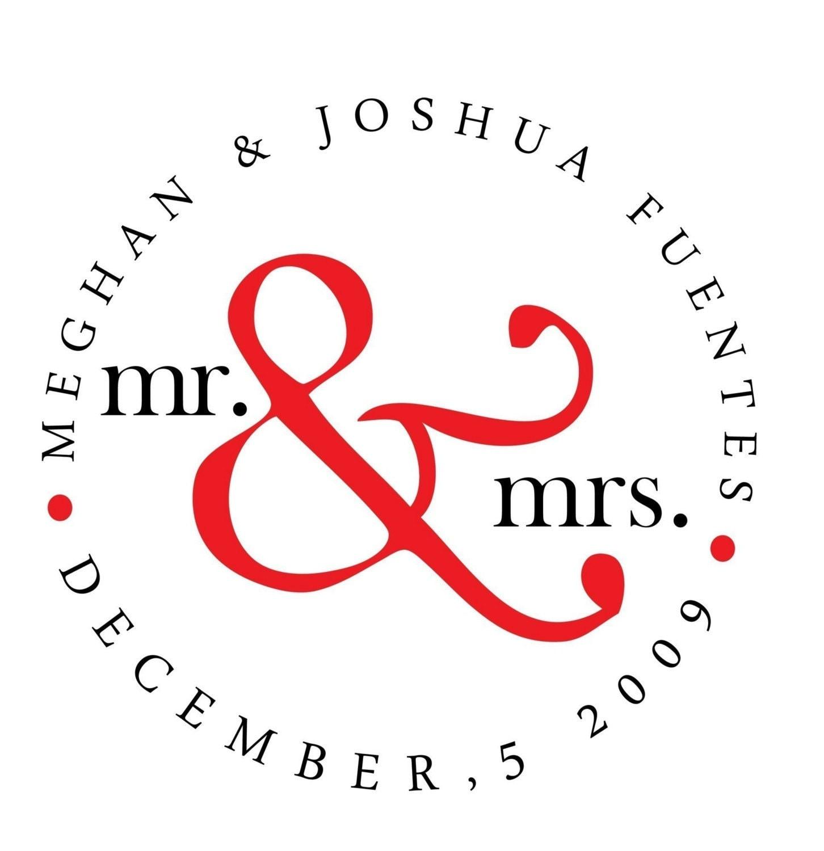 Personalized Circular Mr. and Mrs. Monogram - Digital File