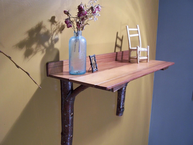 Rustic Natural Cedar and Alder Wood Shelf