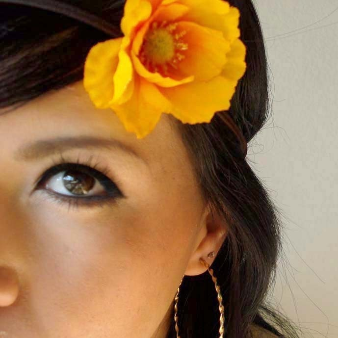 Bryanna Hippie Poppy Flower Headband