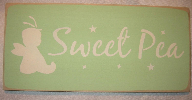 SWEET PEA, So Cute, Baby, Nursery,Bedroom U-Pick Color  Sign