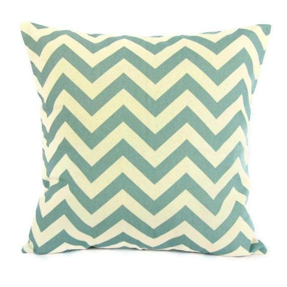 18x18 Throw Pillow Cover Seafoam Aqua Blue by GigglesOfDelight