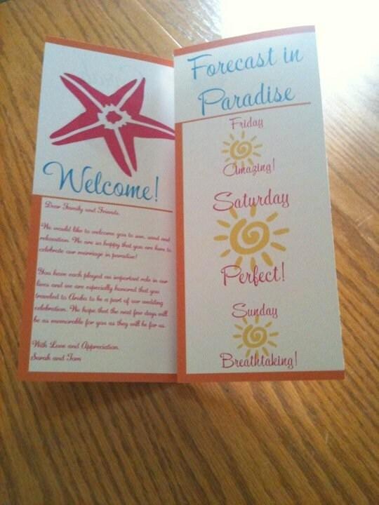 Wedding Welcome Brochure