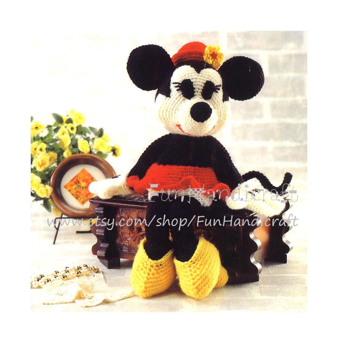 Minnie Mouse Amigurumi Crochet Pattern : Disney Minnie Mouse Amigurumi Pattern in English by ...