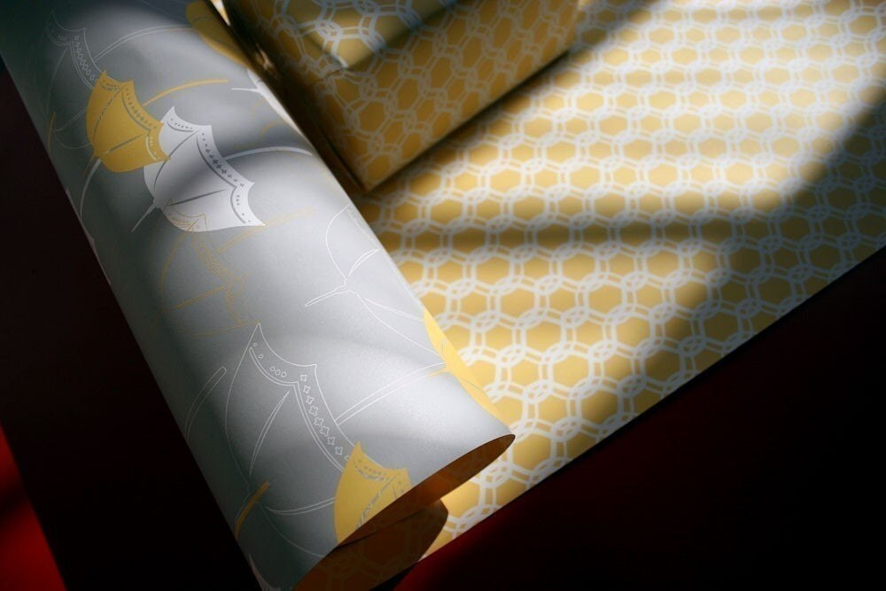 April Gift Wrap/Wrapping Paper. 100 percent post consumer recycled paper. 4 sheets. 922