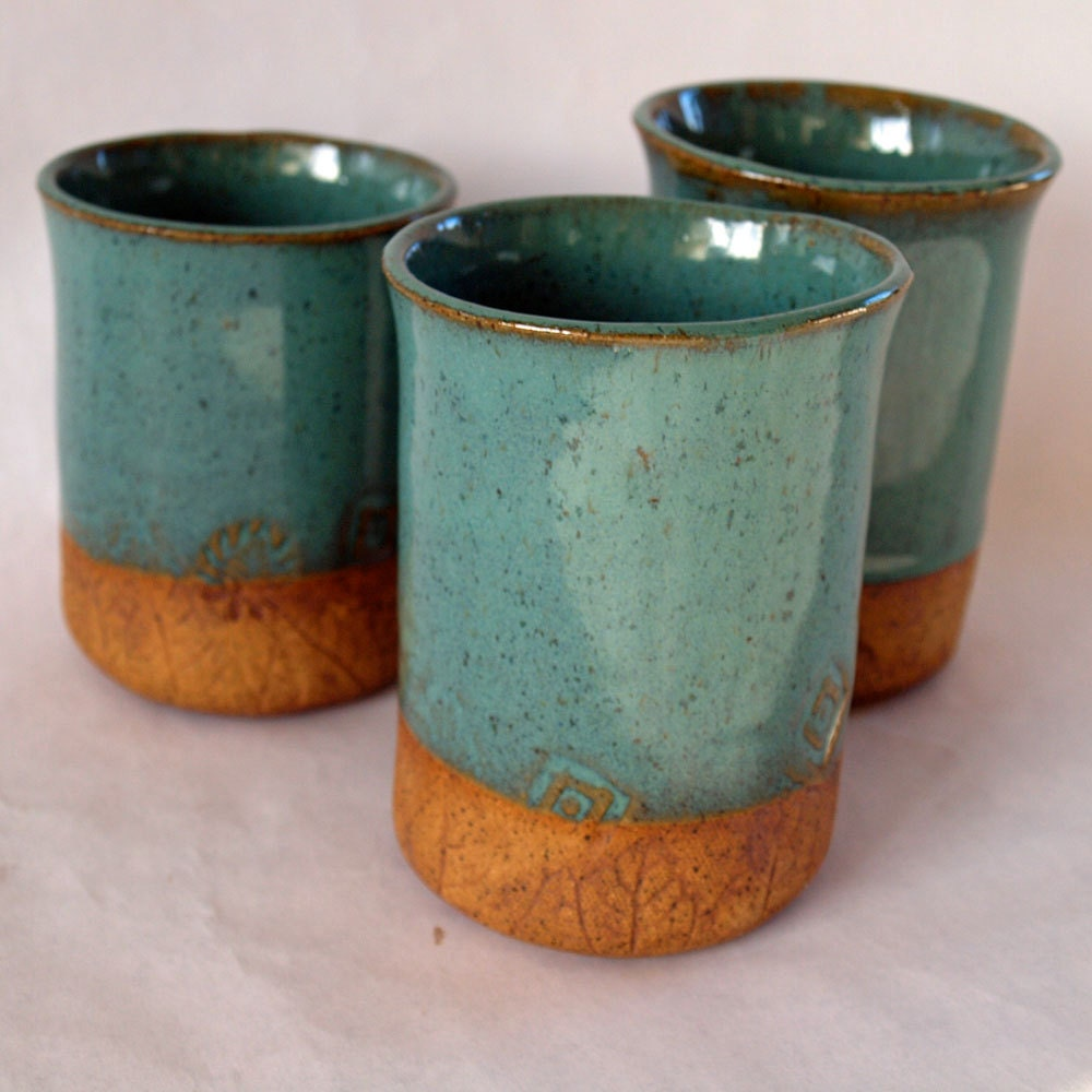 Pottery Cups Handmade Stoneware By Jjpottery On Etsy