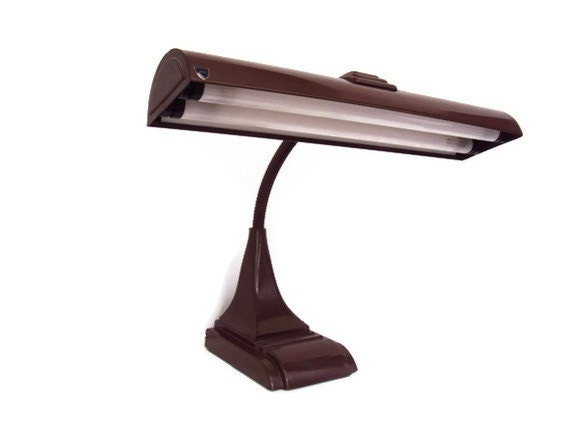 Vintage Mid Century Gooseneck Desk Lamp, Industrial Desk Lamp, Drafting Table Lamp, Art Deco Home Decor, Working Condition - YesterdaysSilhouette