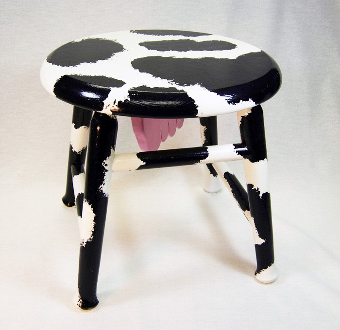 Footstool Cow Milking Stool By Geckowoodworking On Etsy