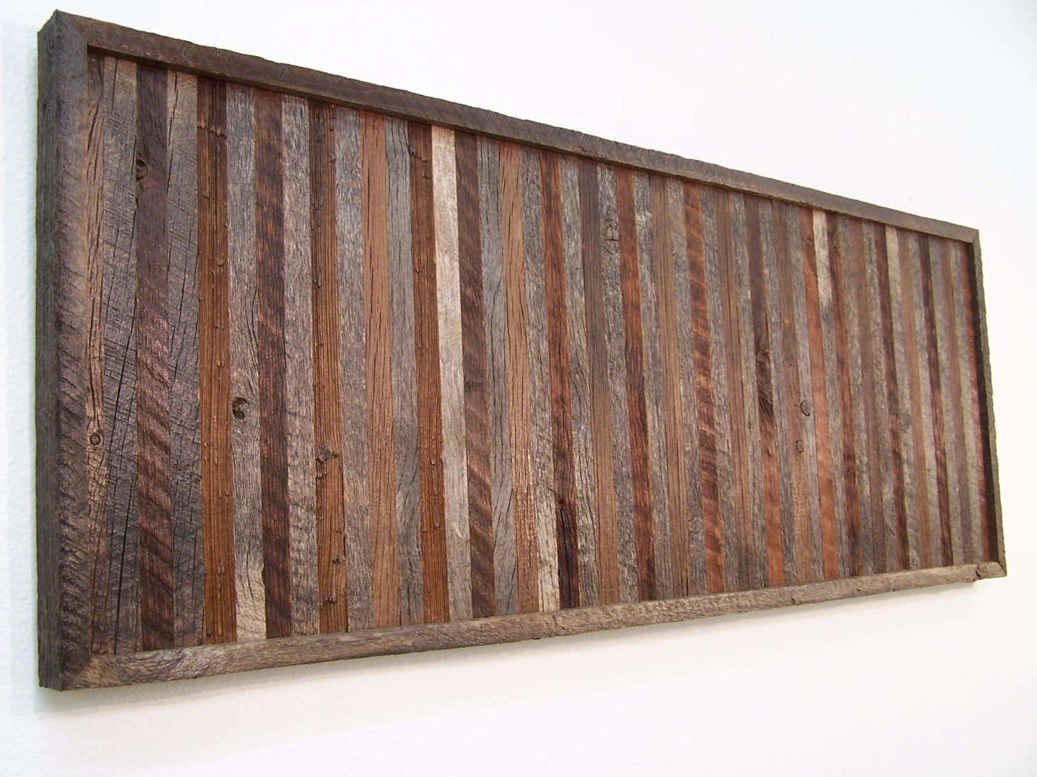 Wall Decor Made From Wood : Reclaimed barn wood wall art decor handmade by