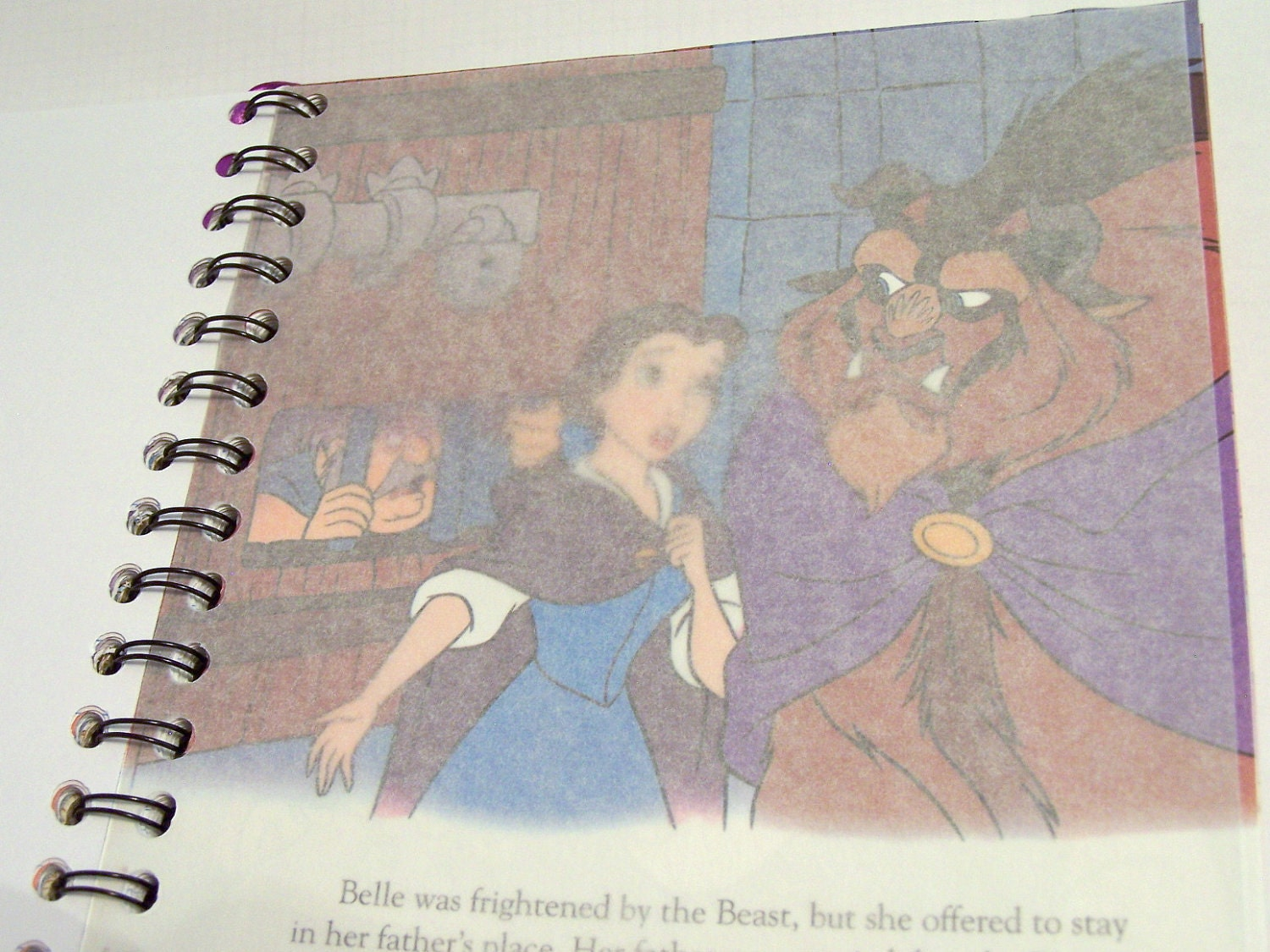Upcycled Golden Book Notebook Upcycled Children's Notebook: Disney's Beauty and the Beast the Teapot's Tale