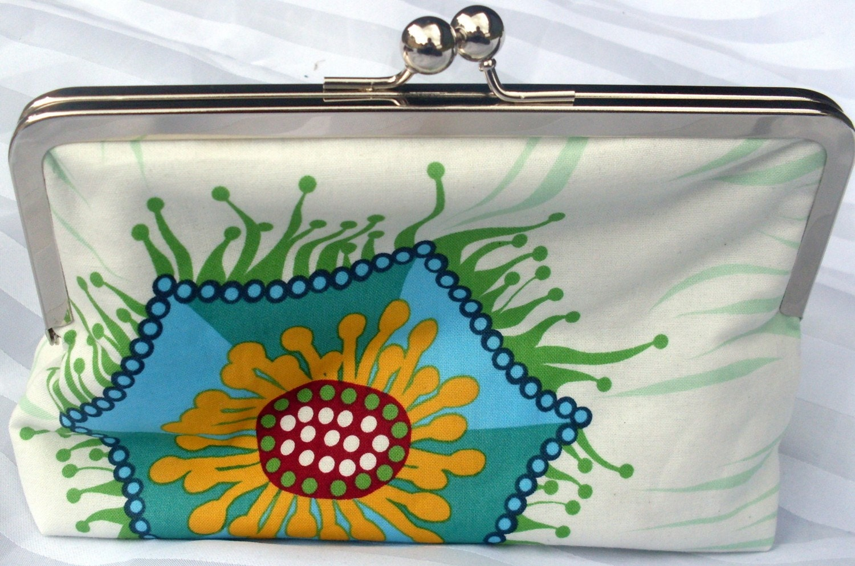 Handmade cosmetic clutch purse - Sweet November
