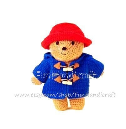 Paddington Bear Amigurumi Pattern E-book in PDF by FunHandicraft