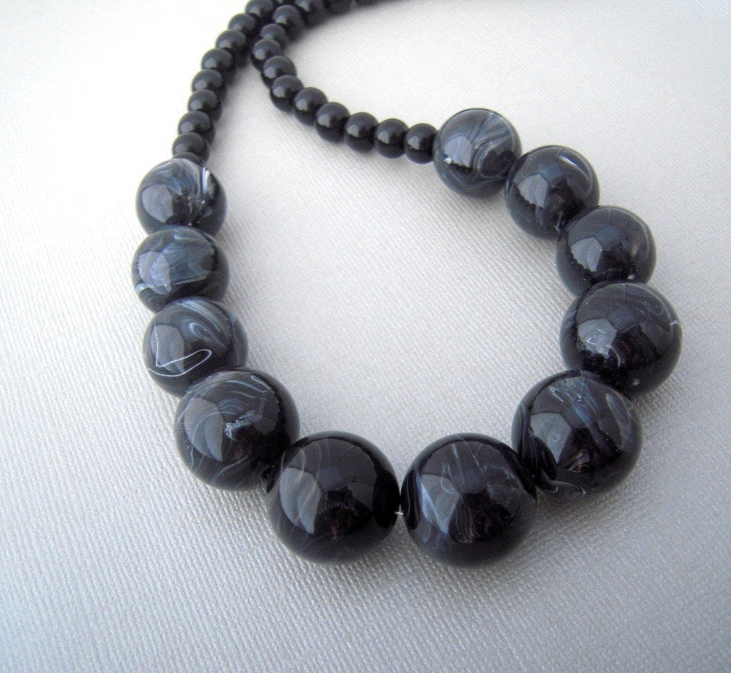 big bead necklace black chunky necklace bold by urbandwellers