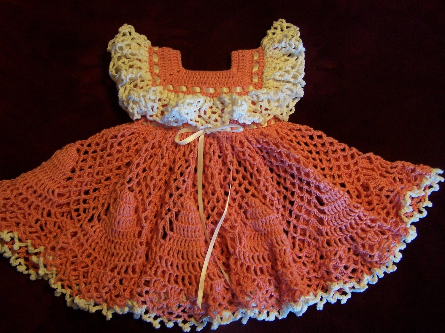 Coral Frilly Frock & Socks