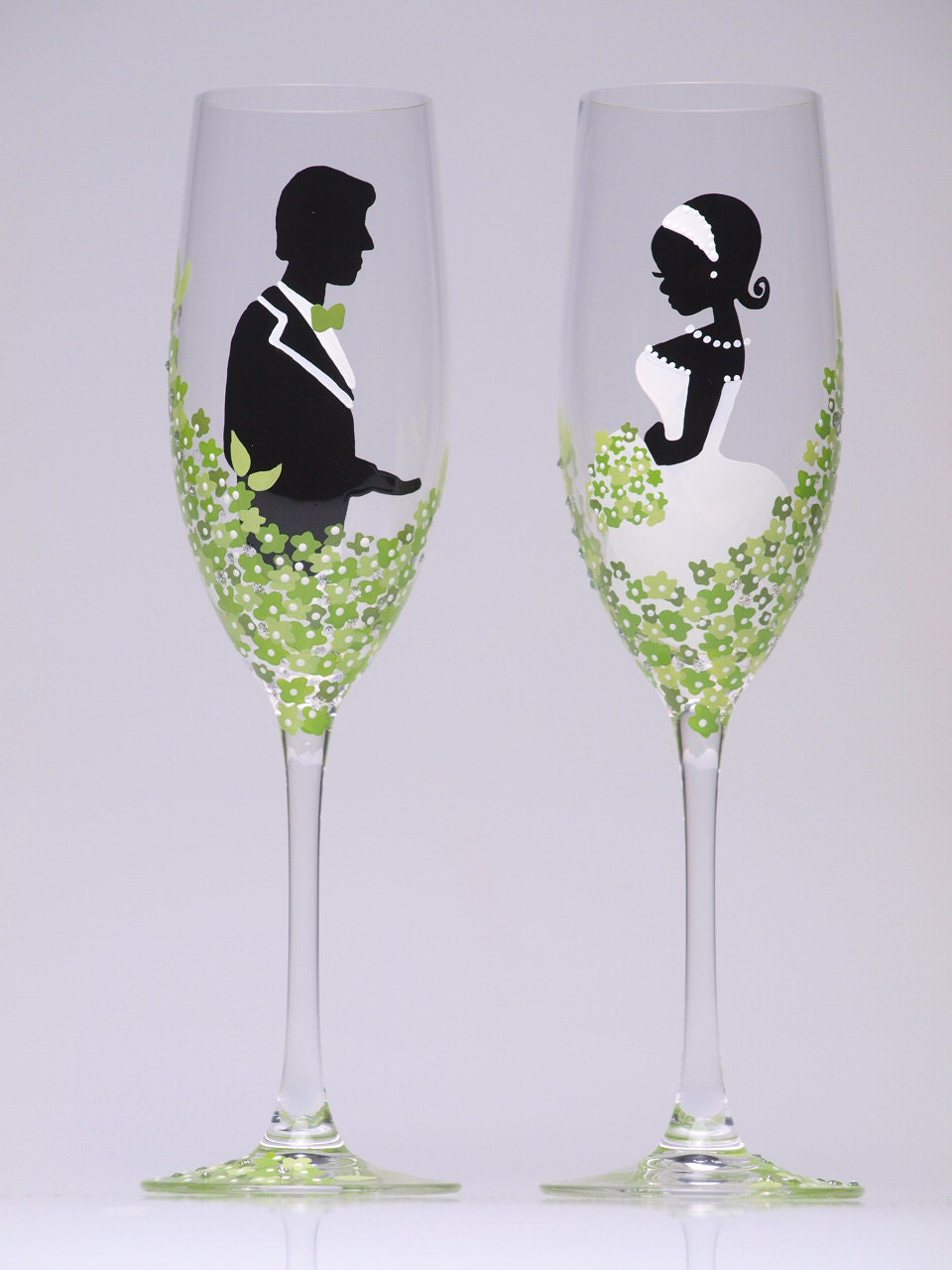 Hand Painted Wedding Toasting Flutes Groom And Bride By Pastinshs
