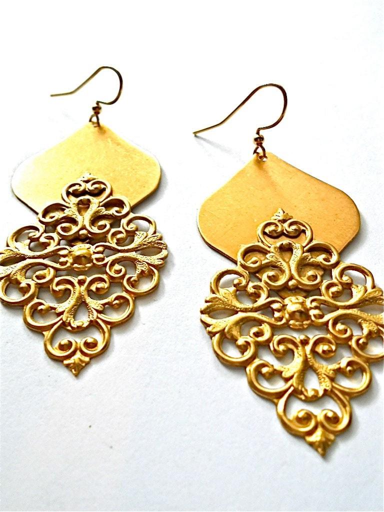 Bindi Brass Earrings