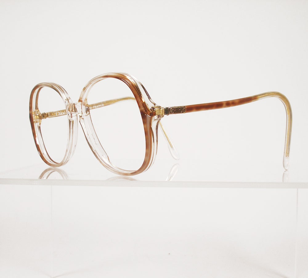 CHLOE Lunettes Brown Animal Print Eyeglass Frames by Chigal