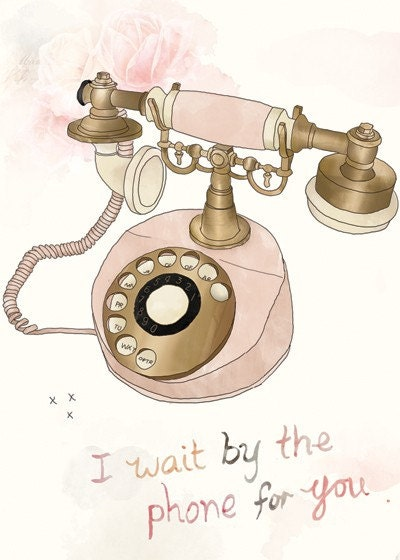 Wait by the phone ACEO