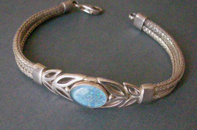 Vintage Blue Opal Bracelet